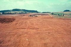 Flugplatz-Ausbau 1965: Die Arbeit der schweren Maschinen ist (fast) getan